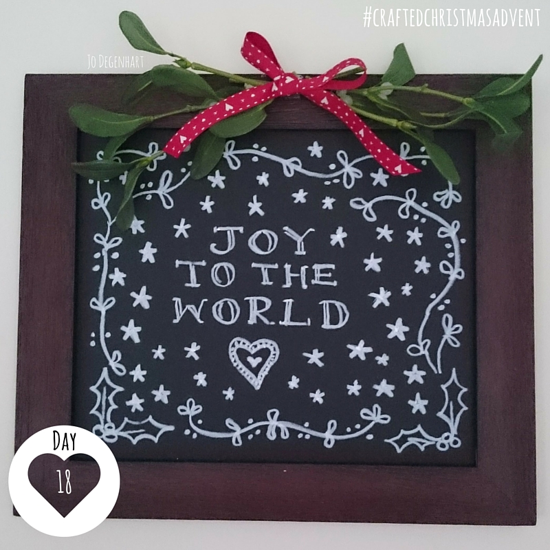 Day 18 Crafted Christmas Advent- Chalkboard Design
