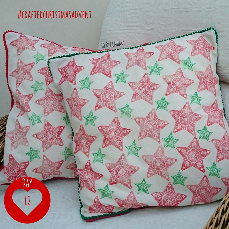 Day 12 Crafted Christmas Advent- Printed Christmas Pillow