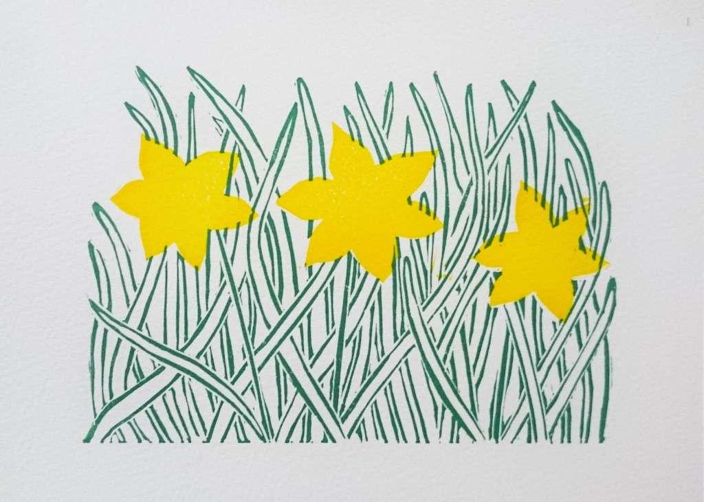 Spring Daffodil yellow plate