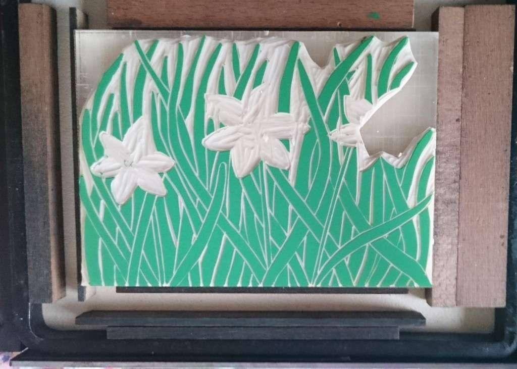 Daffodil green plate