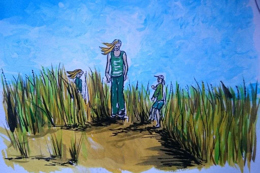 Day 15- In the sand dunes by Jo Degenhart