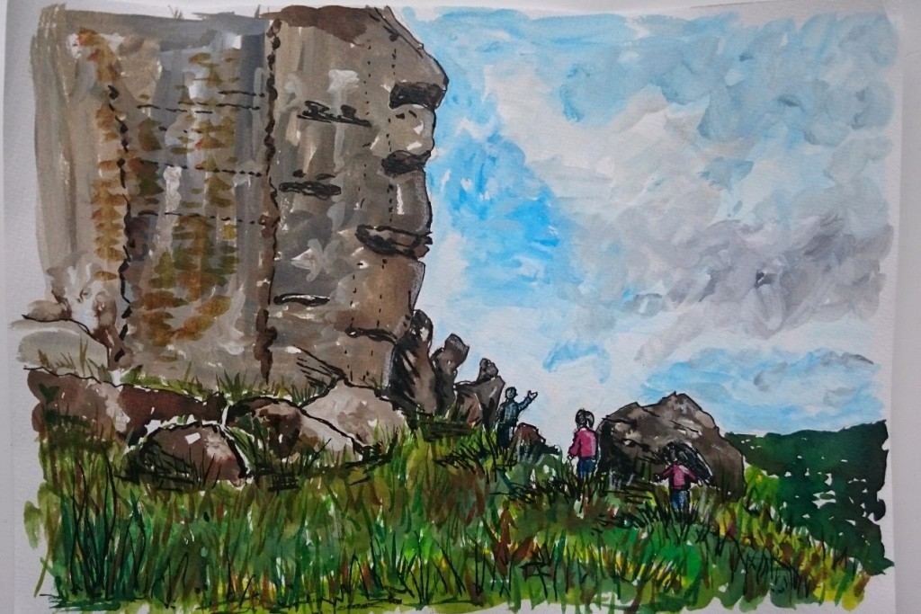 Day 16 Near the cow and calf by Jo Degenhart