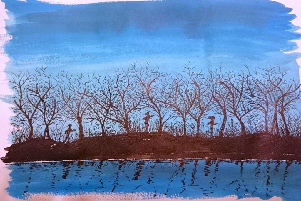 Day 17 Frosty run by Jo Degenhart