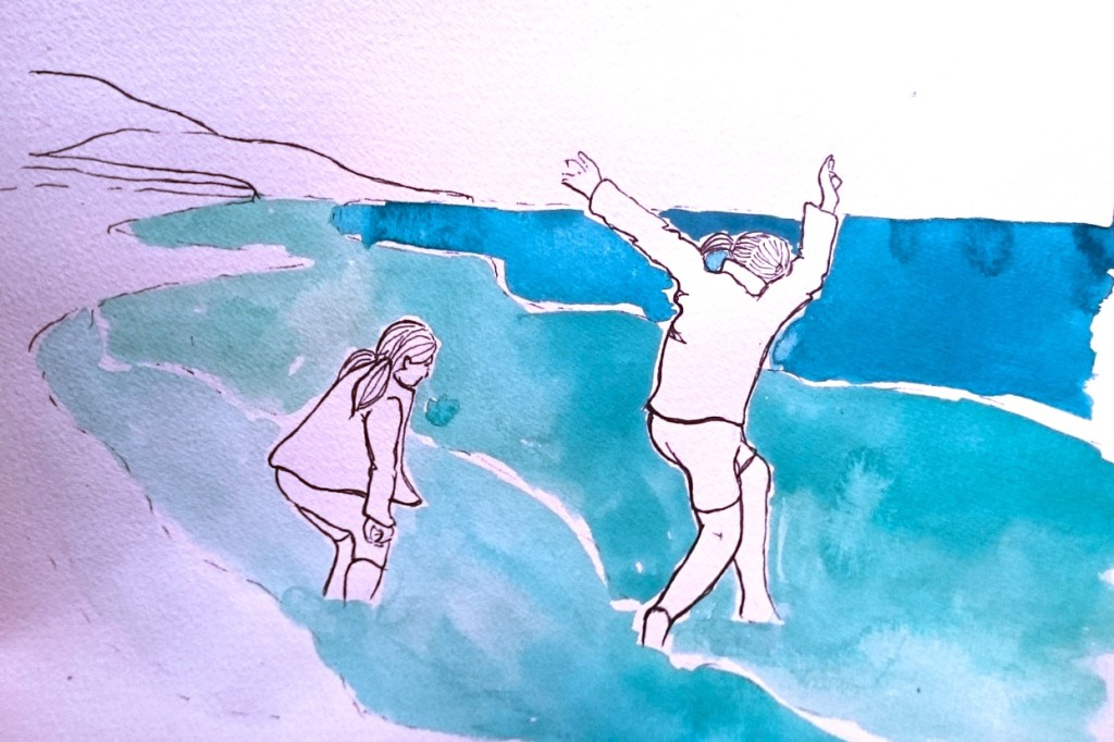 Day 24 Jumping the waves by Jo Degenhart