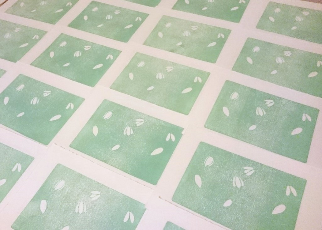Spring Snowdrops Print by Jo Degenhart first colour