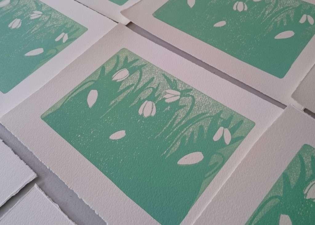 Spring Snowdrops Print by Jo Degenhart second colour