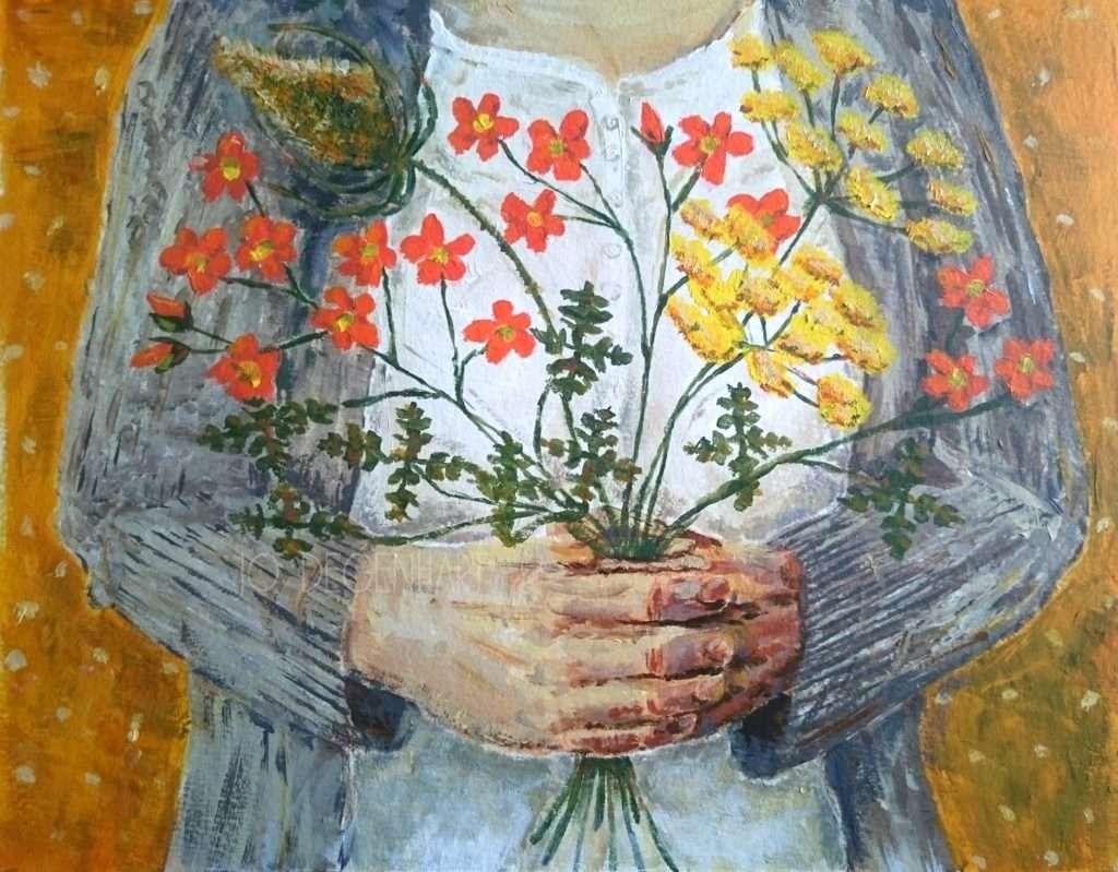 Posie of Flowers by Jo Degenhart