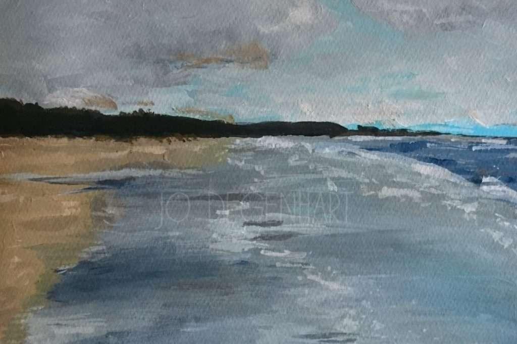 A Cloudy Day on Harlech Beach by Jo Degenhart