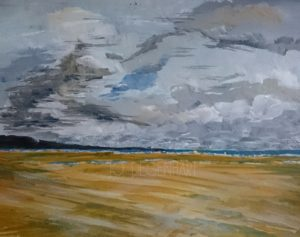 The Wind at Harlech Beach by Jo Degenhart