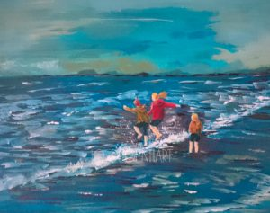 Jumping the Waves Together by Jo Degenhart