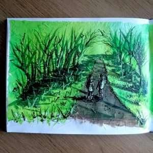 Day 1 28 Drawings Later Sketchbook Challenge by Jo Degenhart