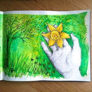 Day 2 28 Drawings Later Sketchbook Challenge by Jo Degenhart