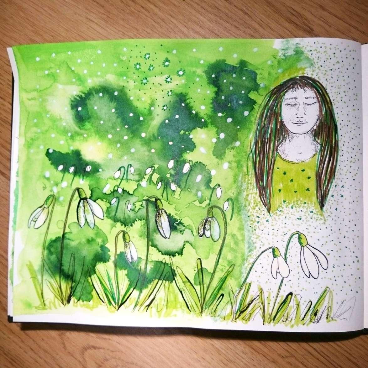 Day 3 28 Drawings Later Sketchbook Challenge by Jo Degenhart