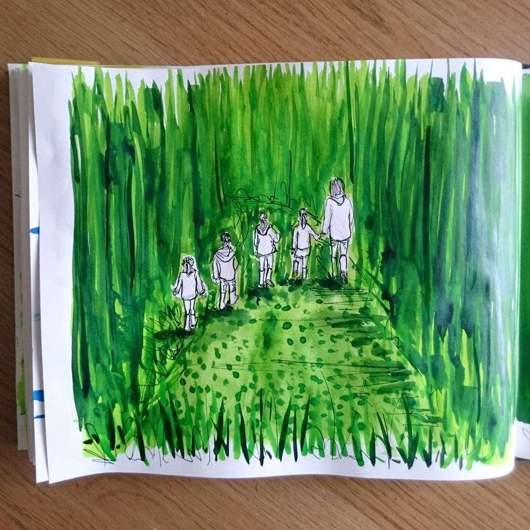 Day 25 28 Drawings Later Sketchbook Challenge by Jo Degenhart