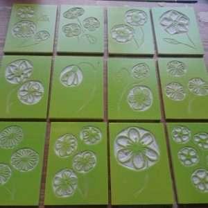 Wildflower ACEOs inked up linocuts by Jo Degenhart