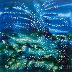 Acrylic Ink Seascape by Jo Degenhart