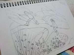 Sketch book for Tree Skeletons by Jo Degenhart