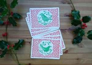 British birds Lino Printed Postcards by Jo Degenhart