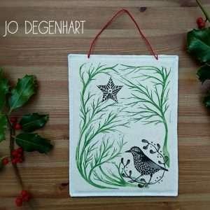 Stargazing Song Thrush by Jo Degenhart