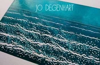Sea Breeze lino print by Jo Degenhart