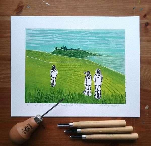 Walk to Dunstanburgh by Jo Degenhart