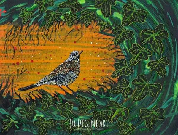 Sunlit Fieldfare by Jo Degenhart