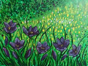 Crocus painting by Jo Degenhart