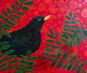 Through the Rowan Tree painting by Jo Degenhart