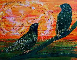 Starling painting by Jo Degenhart