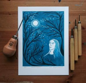 Moonlight with tools by Jo Degenhart