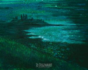 Dunstanburgh Mist Giclee <p>by Jo Degenhart